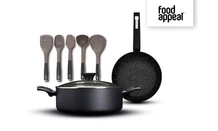 2 Food Appeal - מארז כלי מטבח הכולל סוטאז', מחבת וכלי ששת | משלוח חינם