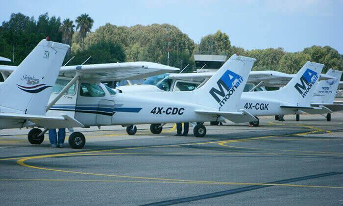 3 בית הספר לטיסה Moonair בשדה התעופה הרצליה - טייס ליום אחד ליחיד או לזוג