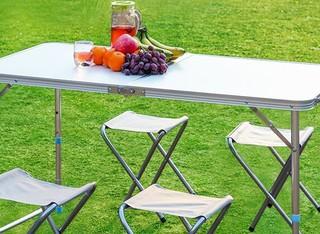 שולחן פיקניק מתקפל עם 4 כיסאות