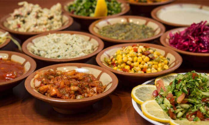 2 ארוחה זוגית במסעדה הלבנונית אבו גוש, תל אביב