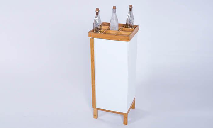 5 יחידת אחסון מעץ ובמבוק לחדר האמבטיה