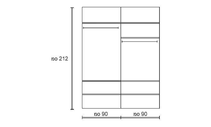 5 ארון קיר מעוצב לחדר שינה דגם 'שאנל' של שמרת הזורע