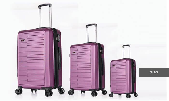 3 3 מזוודות קשיחות SWISS דגם ברלין