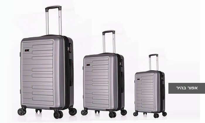 4 3 מזוודות קשיחות SWISS דגם ברלין