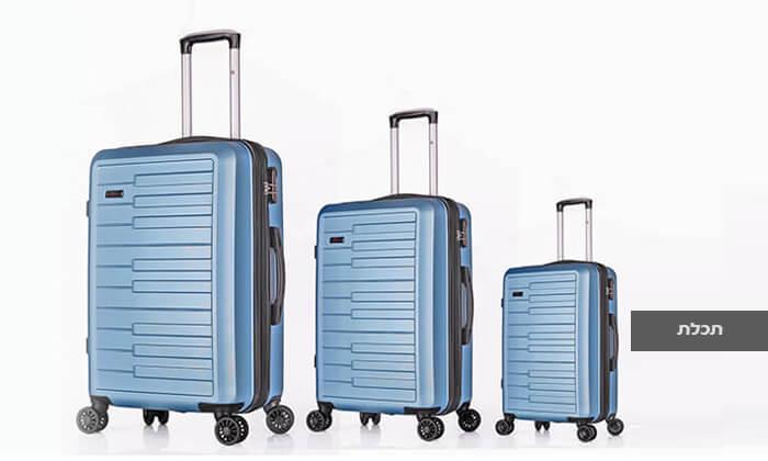 5 3 מזוודות קשיחות SWISS דגם ברלין