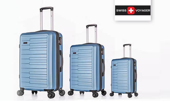 2 3 מזוודות קשיחות SWISS דגם ברלין