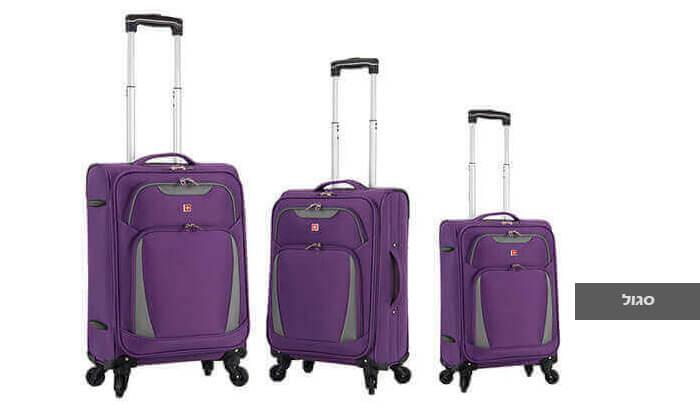 4 סט 3 מזוודות SWISS דגם Summer 2019