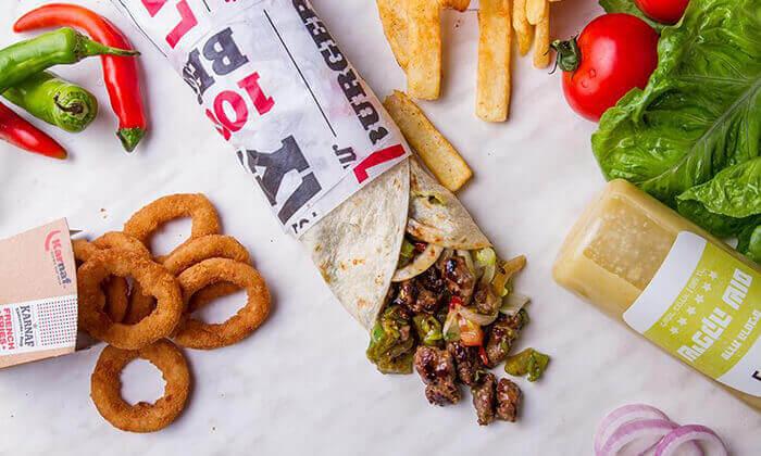"""7 מסעדת קרנף הכשרה - ארוחה ליחיד בסניף לונדון מיניסטור, ת""""א"""