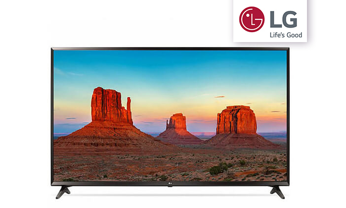 2 טלוויזיה חכמה 4K LG, מסך 43 אינץ'