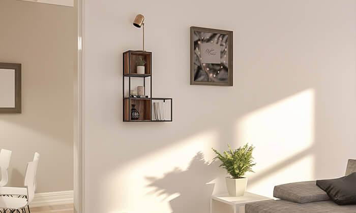 3 מעמד מדפים לתלייה על הקיר