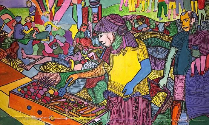 """10 סיור גרפיטי כולל סדנה לילדים בנווה צדק, ת""""א"""