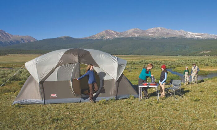 3 אוהל ל-10 אנשים Coleman דגם WeatherMaster | משלוח חינם