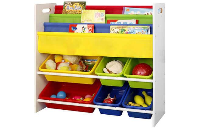 3 ארגונית צעצועים וספרים לילדים