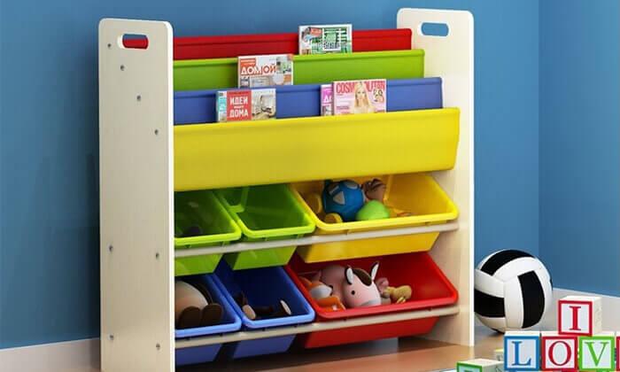 5 ארגונית צעצועים וספרים לילדים