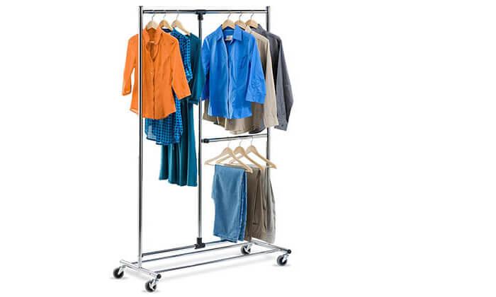 3 מתלה בגדים נייד honey can do דגם GAR-01702