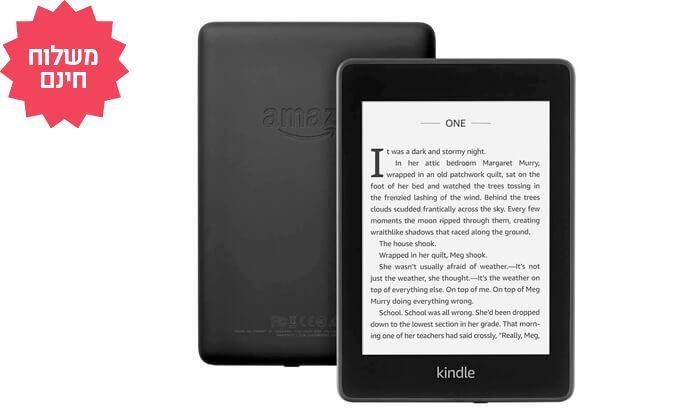4 קורא ספרים אלקטרוני חסין במים Amazon Kindle Paperwhiteמדגם 2018 | משלוח חינם