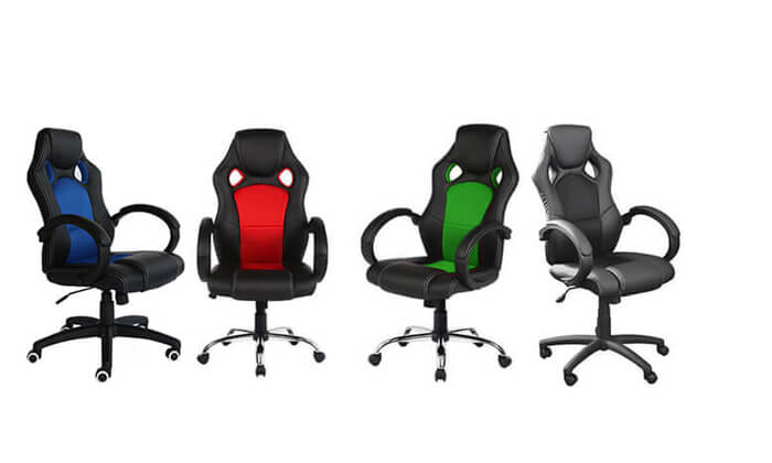 2 כסא גיימרים מרופד מדגם C588