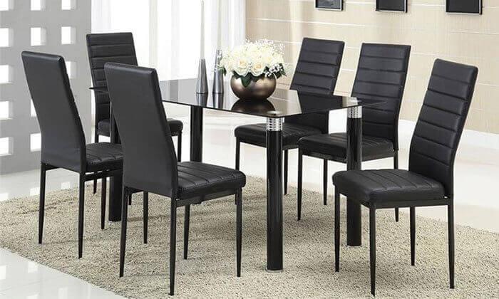 6 פינת אוכל עם 6 כיסאות מרופדים, דגם DAZA0308