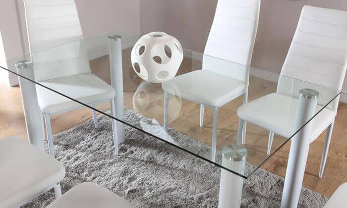 5 פינת אוכל עם 6 כיסאות מרופדים, דגם DAZA0308
