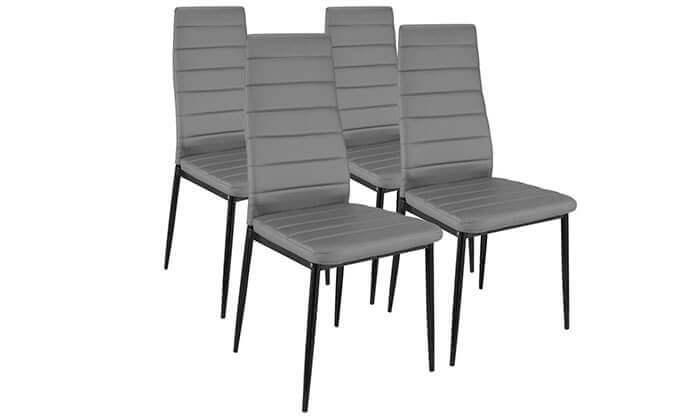 4 פינת אוכל עם 6 כיסאות מרופדים, דגם DAZA0308
