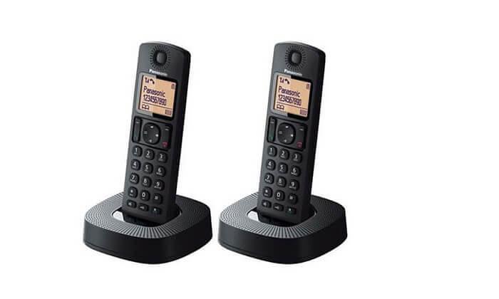 2 טלפון אלחוטי פנסוניק מדגם KX-TGC312 עם שלוחה נוספת | משלוח חינם