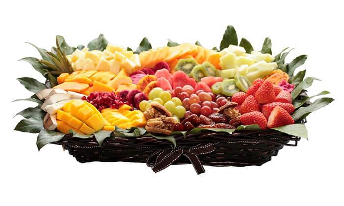 5 סלסלות ומגשי פירות, פרי היופי