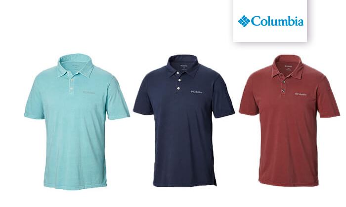 2 חולצת פולו קצרה Columbia לגברים