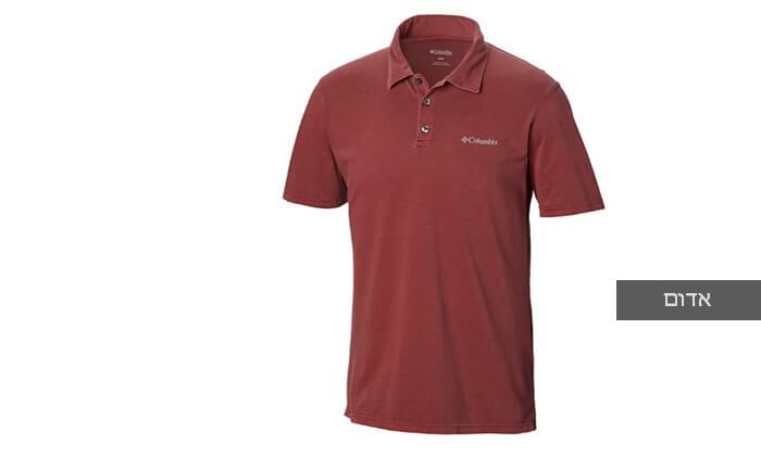 3 חולצת פולו קצרה Columbia לגברים