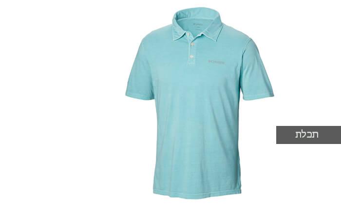 5 חולצת פולו קצרה Columbia לגברים