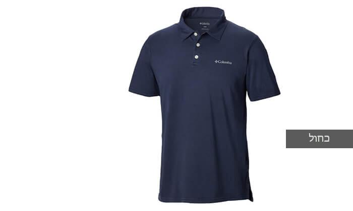 4 חולצת פולו קצרה Columbia לגברים