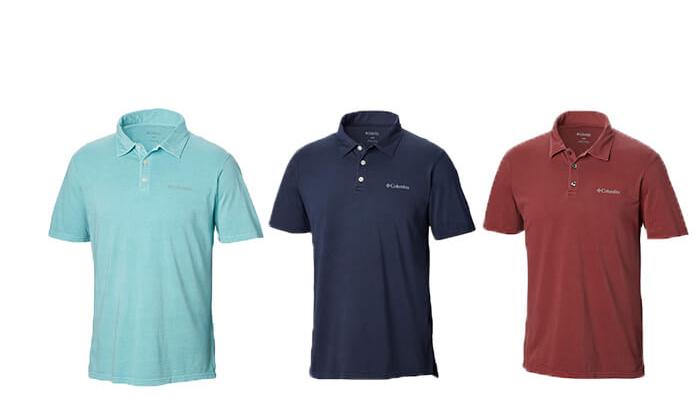 6 חולצת פולו קצרה Columbia לגברים