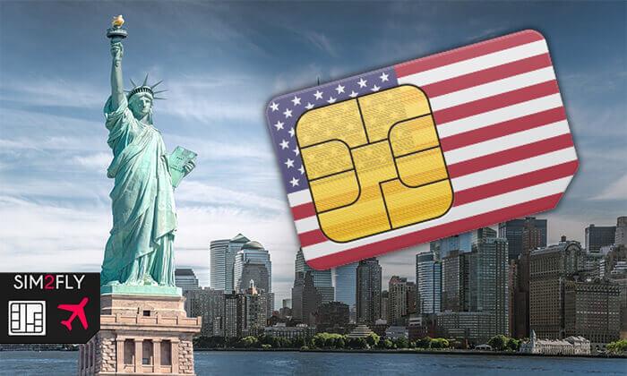 2 סים לארצות הברית - ללא הגבלה
