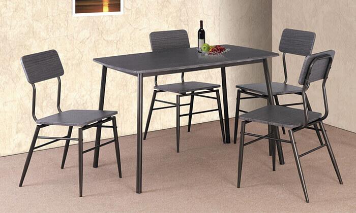4 פינת אוכל מדגם 5147 עם 4 כיסאות