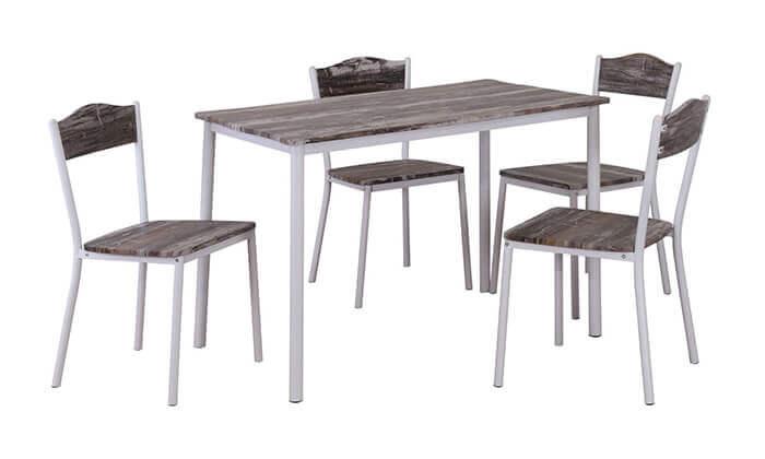 3 פינת אוכל הכוללת שולחן ו-4 כיסאות