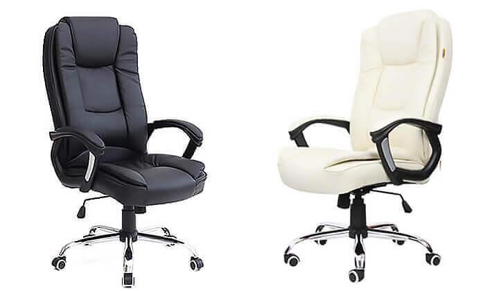 2 כיסא מנהלים עם מבנה ארגונומי