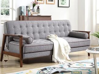 ספה תלת מושבית מבד נפתחת למיטה