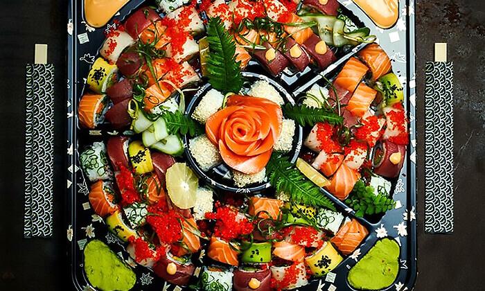 5 מגשי סושי לאירוח ממסעדת NUCHI הכשרה, תל אביב