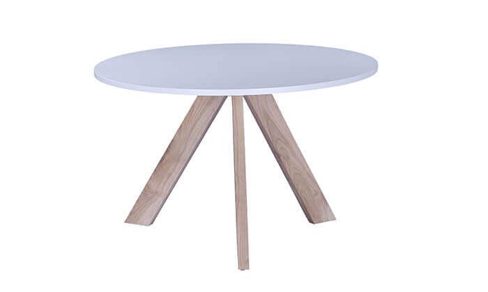 2 שולחן עגול בעל 3 רגליים