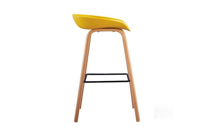 6 כיסא בר בעיצוב סקנדינבי נמוך
