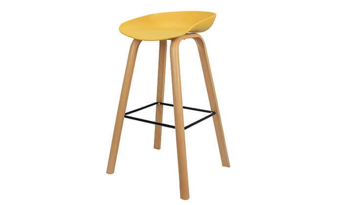 3 כיסא בר בעיצוב סקנדינבי נמוך