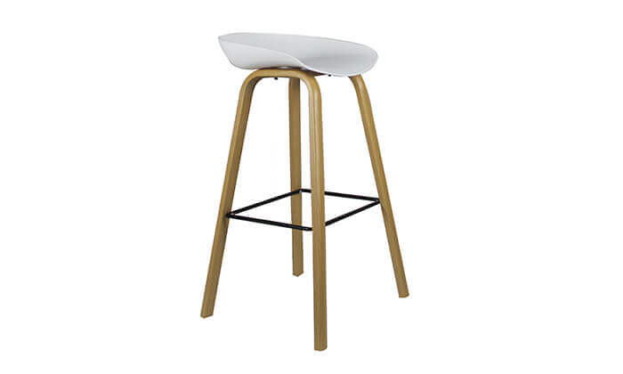 4 כיסא בר בעיצוב סקנדינבי נמוך