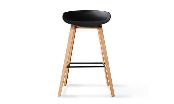 5 כיסא בר בעיצוב סקנדינבי נמוך