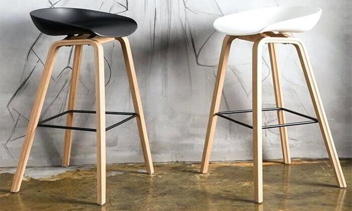 9 כיסא בר בעיצוב סקנדינבי נמוך
