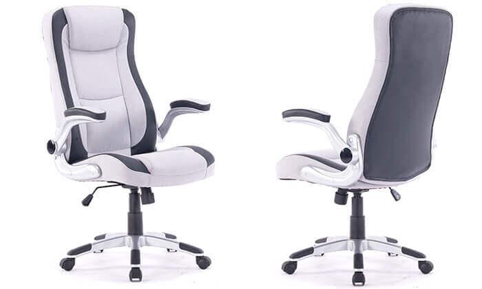 2 כיסא מנהלים מרופד
