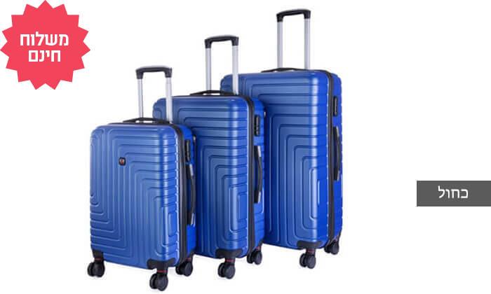 3 שלישיית מזוודות POLO SWISS קשיחות I משלוח חינם
