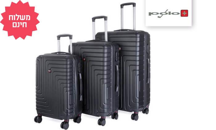 2 שלישיית מזוודות POLO SWISS קשיחות I משלוח חינם