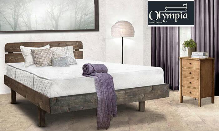 2 מיטה זוגית מעץ מלא, כולל מזרן אורתופדי במתנה