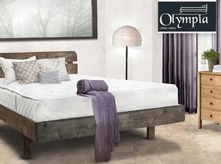 מיטה זוגית עץ מלא עם מזרן