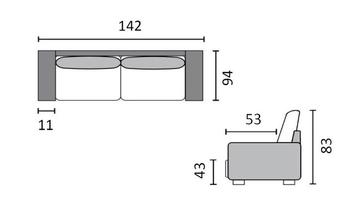 6 שמרת הזורע: ספה נפתחת למיטה דגם סמבה