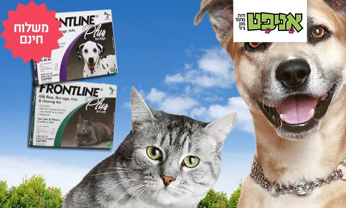 2 מארז 3 אמפולות Frontline Plus לחתולים או לכלבים | משלוח חינם